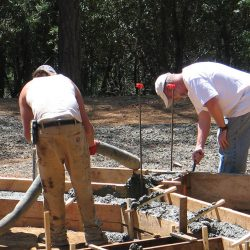 Concrete foundations & footings