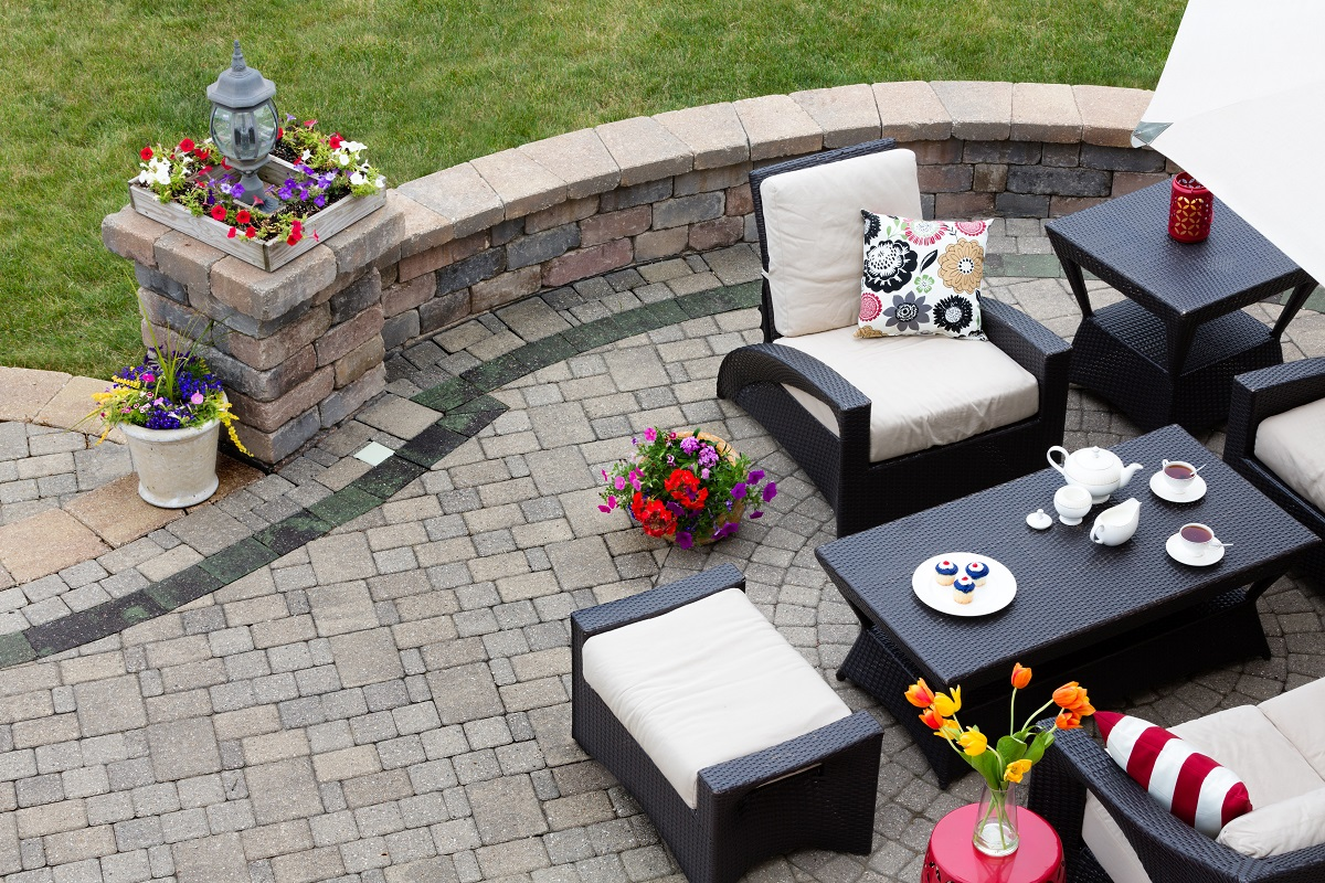 Completed paver patio
